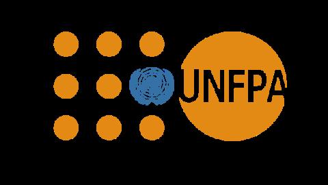 Logo de UNFPA (Oficina Nacional del Fondo de Población de las Naciones Unidas - Ecuador) formado por sus siglas en color naranja.