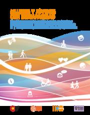 """Portada del manual """"Mujeres y jóvenes con discapacidad"""" - Directrices para prestar servicios basados en derechos y con perspectiva de género para abordar la violencia basada en género y la salud y los derechos sexuales y reproductivos"""