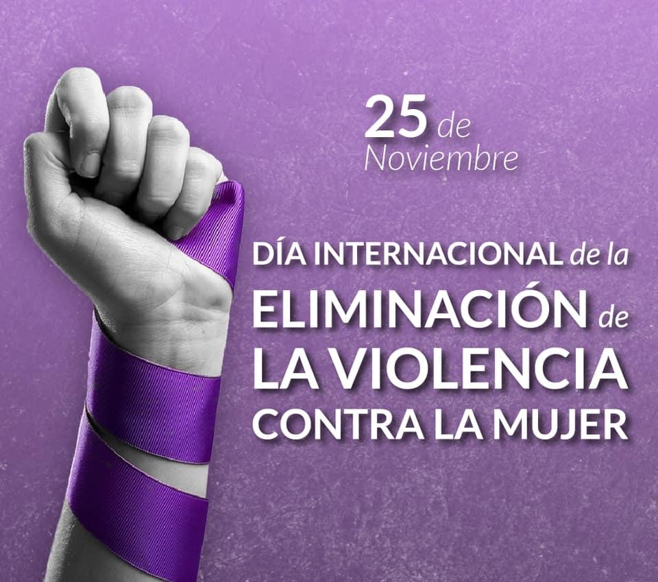 25 de noviembre – Día Internacional de la Eliminación de la Violencia contra la Mujer.